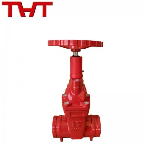 Fire grooved noo-rising stem gated valve