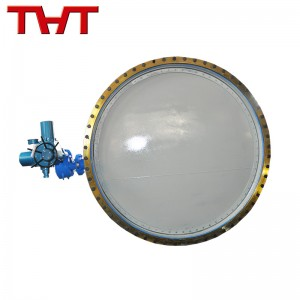 Electric dust gas butterfly valve