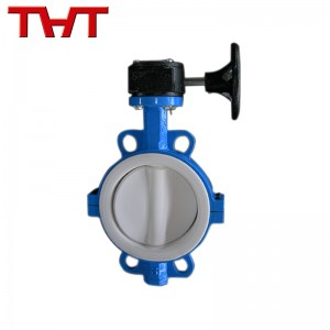 Teflon lined wafer butterfly valve