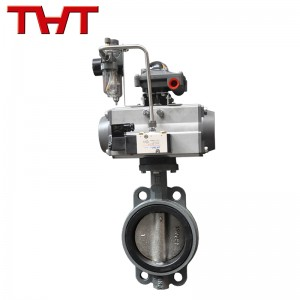 Pneumatic actuator wafer butterfly valve