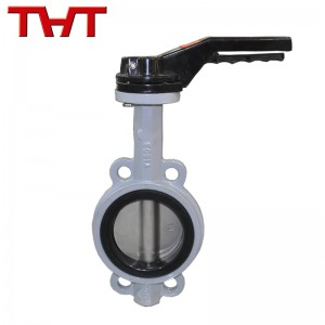 wafer type ductile iron butterfly valve