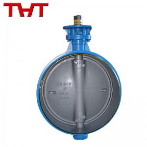 Metal bidirectional pressure welding butterfly valve