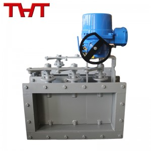 Electric square louver valve