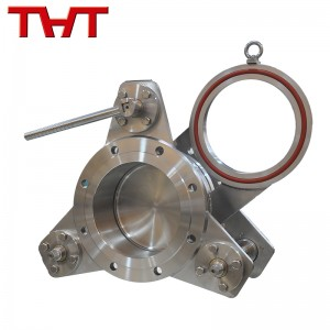 Stainless steel blind plate valve