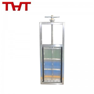 channel type stainless steel sluice gate valve factory price