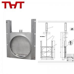 pneumatic wall mounted round type sluice gate valve