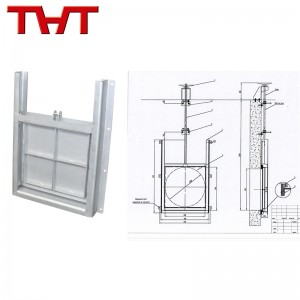 stainless steel  wall mounted sluice gate valve/water penstock with drawing