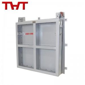 Carbon steel square flap gate valve