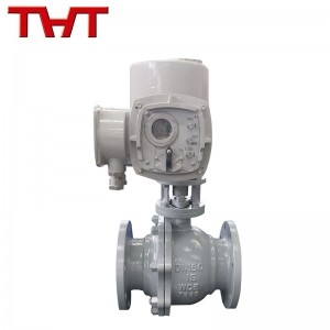 electric actuated flanged ball valve