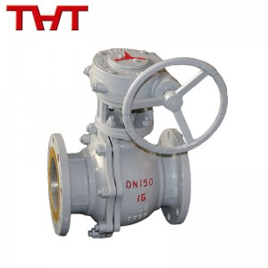 wcb worm gear operated flanged ball valve