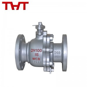 wcb cast steel manual operated flanged ball valve