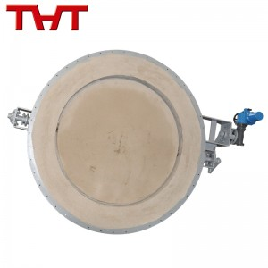 High temperature round Refractory Lined Damper Valve