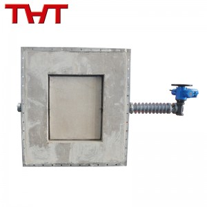 High temperature Rectangle Refractory Lined Damper Valve