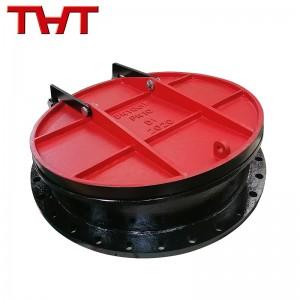 ductile iron round flap valve