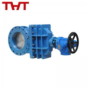 electric actuated PN16 flange connection knife gate valve