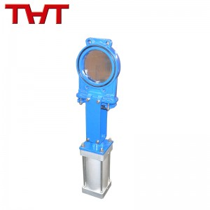 Pneumatic actuated ductile iron knife gate valve