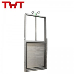 1200x1500mm stainless steel manual operation wall type penstock gate