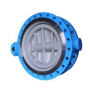 Bidirectional sealing triple eccentric butterfly valve