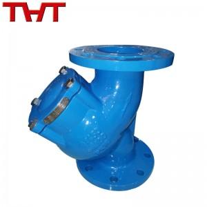 DIN standard ductile iron flange Y type strainer