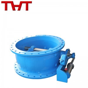 butterfly type tilting disc flange check valve with oil cylinder