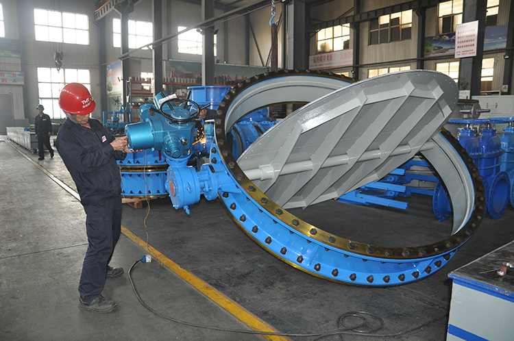 Characteristics of electric wear-resistant dust and gas butterfly valve