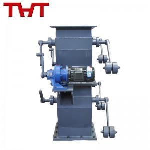 Electric double flap valve
