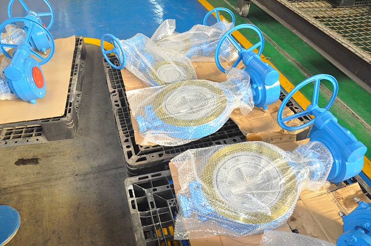 Bi-directional wafer butterfly valve exported to Japan