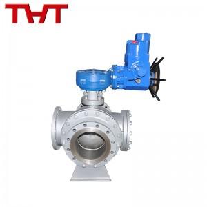 Električni tripotni krogelni ventil