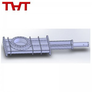 heavy duty double gate air sealed knife gate valve with airbag