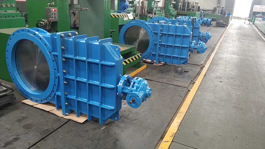Knife gate valve for Russian project