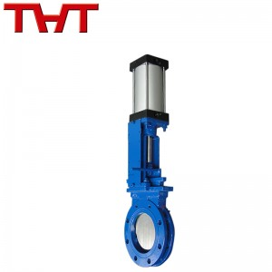 Pneumatic carbon steel knife gate valve
