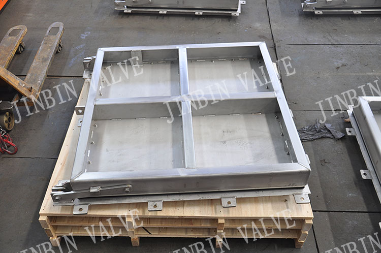 Stainless steel flap gate successfully completed production and delivery