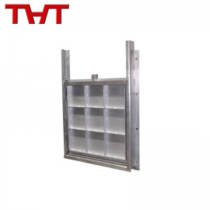 Bi-directional wall mounted penstock