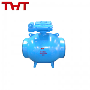 Integral welding fixed ball valve