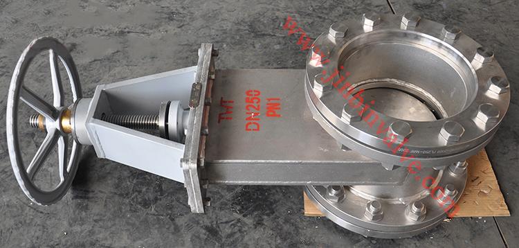 Duplex steel 2205 slide gate valve
