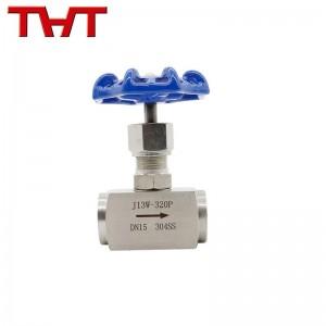 Internal thread needle valve