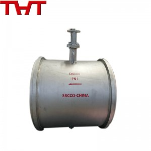 Stainless steel air damper valve for gas