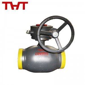 Worm gear welded ball valve