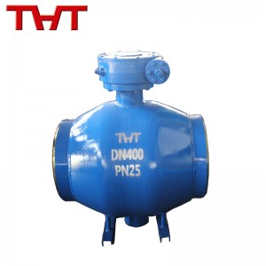 Fully welded ball valve for heating