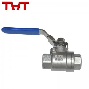 Screw thread end ball valve