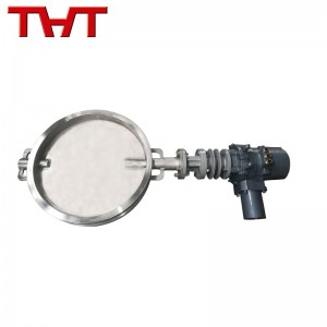 electric Stainless steel high temperature butterfly damper valve