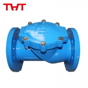 Rubber flapper swing check valve