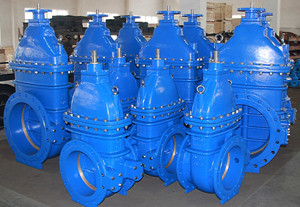 DIN F4 NRS Metal seat cast iron gate valve