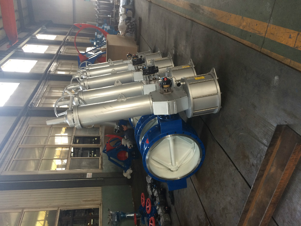 hard sealing butterfly valve- flanged valve pneumatic