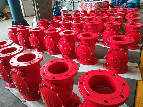 Different size rubber check valve