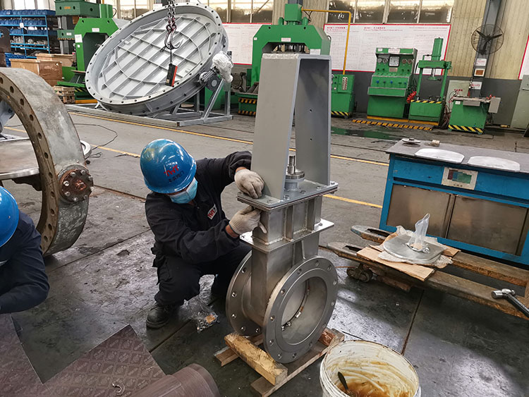 SS304 slide gate valve parts and assemble