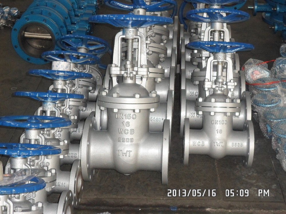 Carbon steel WCB rising stem PN16 flange gate Valve