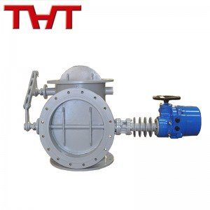 DN400 China electric carbon steel three way damper valve