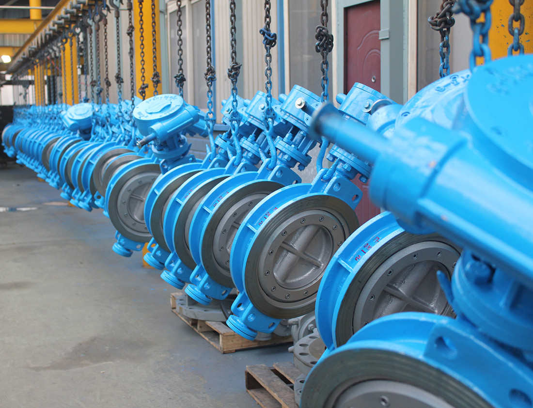 Triple offset wafer butterfly valve